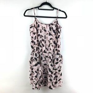 Banana Republic Ruffle Hem Mini Dress Pink Sz S